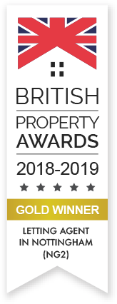 British Property Award Gold Winner 2018 - 2019 for Letting Agents in Nottingham